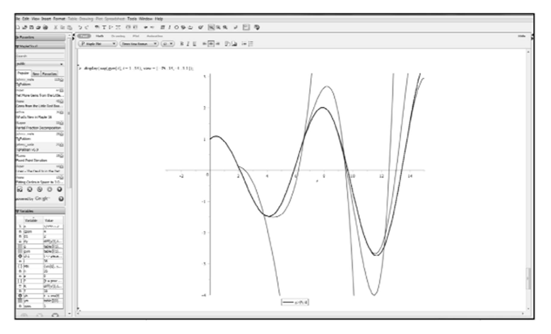 Then, we can apply common numerical methods of solving the ordinary differential  equations in Maple (see Fig 1).