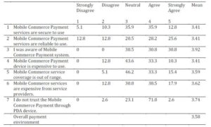 M-Commerce Payment Environment
