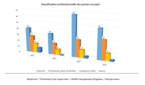 Professional classification of the jobs held